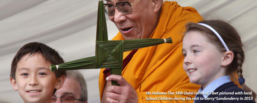 The Dalai Lama During A Visit To Derry | Children In Crossfire