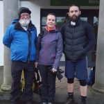 Our Ben Nevis mountaineers John McCallion, Joanne Toner and Derek Lishman.