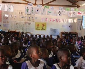 A Fursa kwa Watoto pre primary classroom at Nguge Primary School, Misungwi, Mwanza.