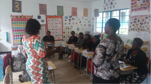FkW teachers share experience and skills with colleagues in Mwanza.
